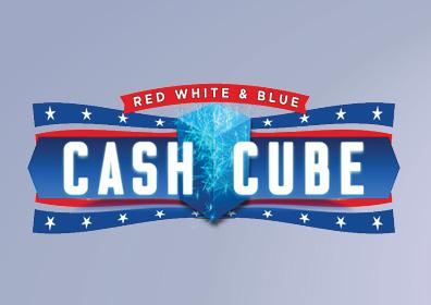 Red, White & Blue Cash Cube Card Image
