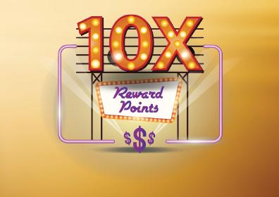 10x Reward Points Card