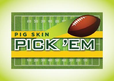 Pig Skin Pick'Em Card