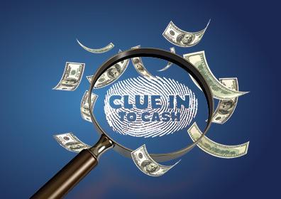 Clue Into Cash Card