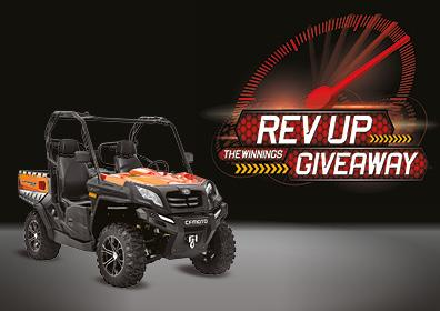 Rev Up Giveaway Card Image CFMOTO Side By Side