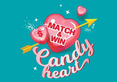 candy heart giveaway card