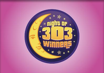 Night of 303 Winners Card