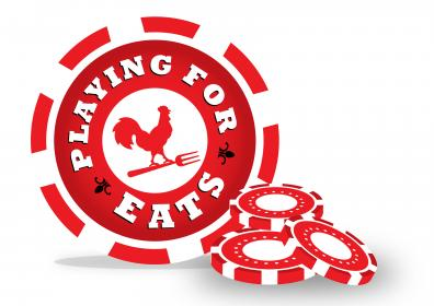 play for eats casino chips with farmer's pick logo