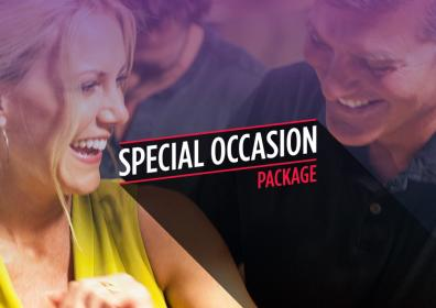"picture of a smiling couple with the words ""Special Occasion Package"""
