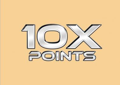 10 times the points logo