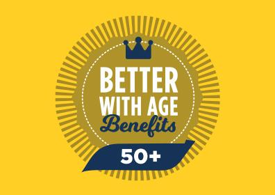 Better with age benefits logo