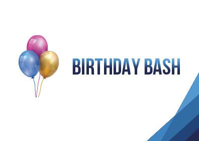 Birthday Bash Logo with ballonons