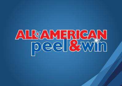 All american peel and win logo