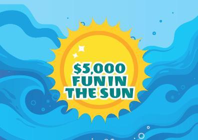$5,000 Fun in the sun logo