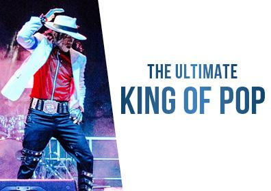 Photo of the Michael Jackson Tribute artist and the name of the tribute with dates and times