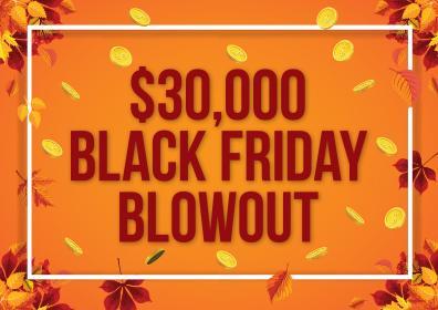 $30,000 Black Friday Blowout Logo