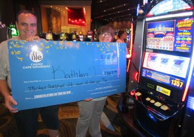 Kathleen J and her $1,357 jackpot check