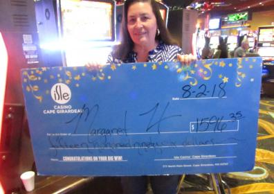 Margaret H and her $1,5969.35 jackpot check