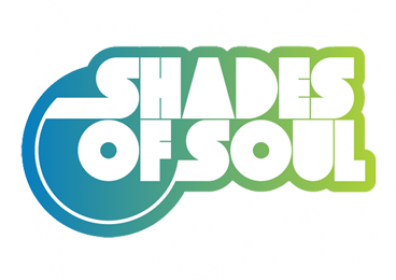 Shades of Soul logo in blue and white