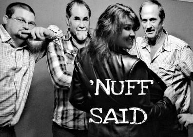 Nuff Said band photo in black and white
