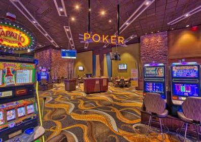 Poker room image from casino floor