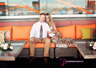 Wedding couple on Keller's deck