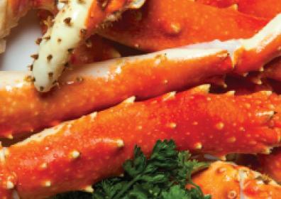 Upclose image of crab legs