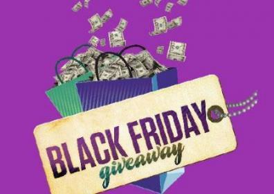Black Friday gift card giveaway logo