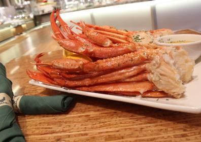 Image of crab legs on a plate
