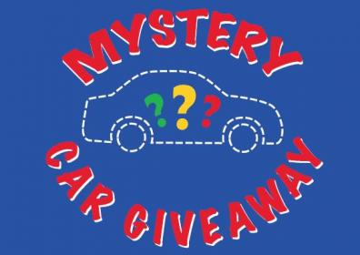 Mystery car giveaway logo