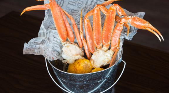 Bucket of Crab Legs