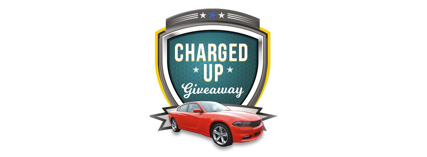 Dodge charger  giveaway logo