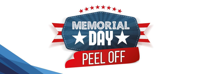Memorial day peel off logo