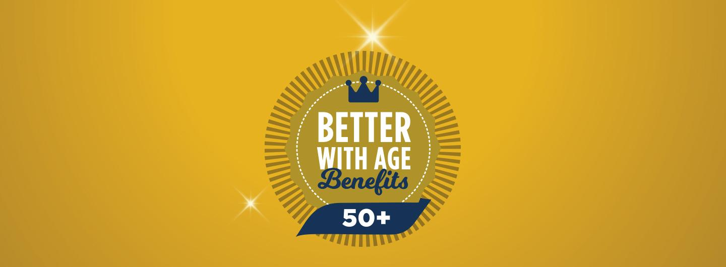Better with Age Benefits logo with sparkles