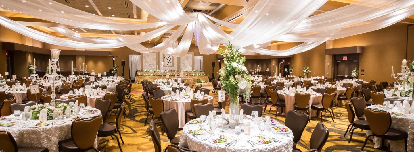 Event Center Room decorated for a wedding
