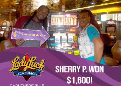 Sherry P won $1600