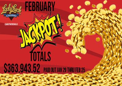 February Jackpot Totals