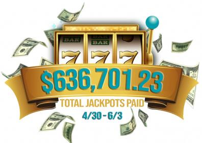 Total Jackpots Paid in May