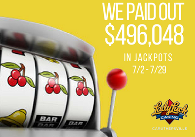 July Jackpot Total