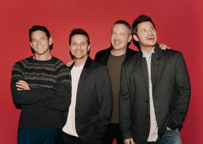 98 Degrees members smiling