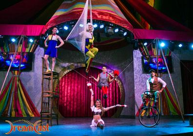 Circus performers at the Midway