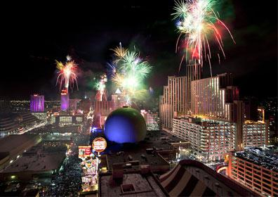 Fireworks Display Over Downtown Reno