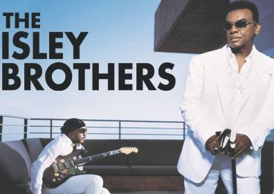The Isley Brothers posing