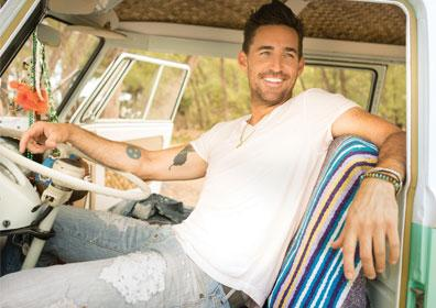 Jake Owen Smiling in his truck