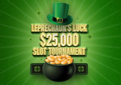 Leprechaun's Luck $25 Slot Tournament Logo