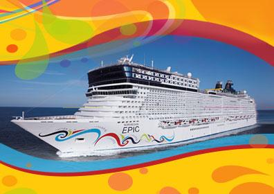 Norwegian Cruise ship on open waters