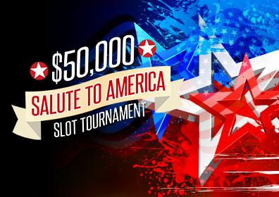 Red, white and blue stars with tournament text