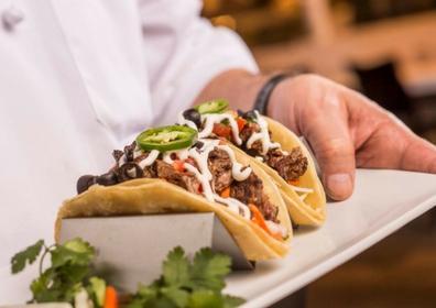 Plate of tacos at El Jefe's Cantina