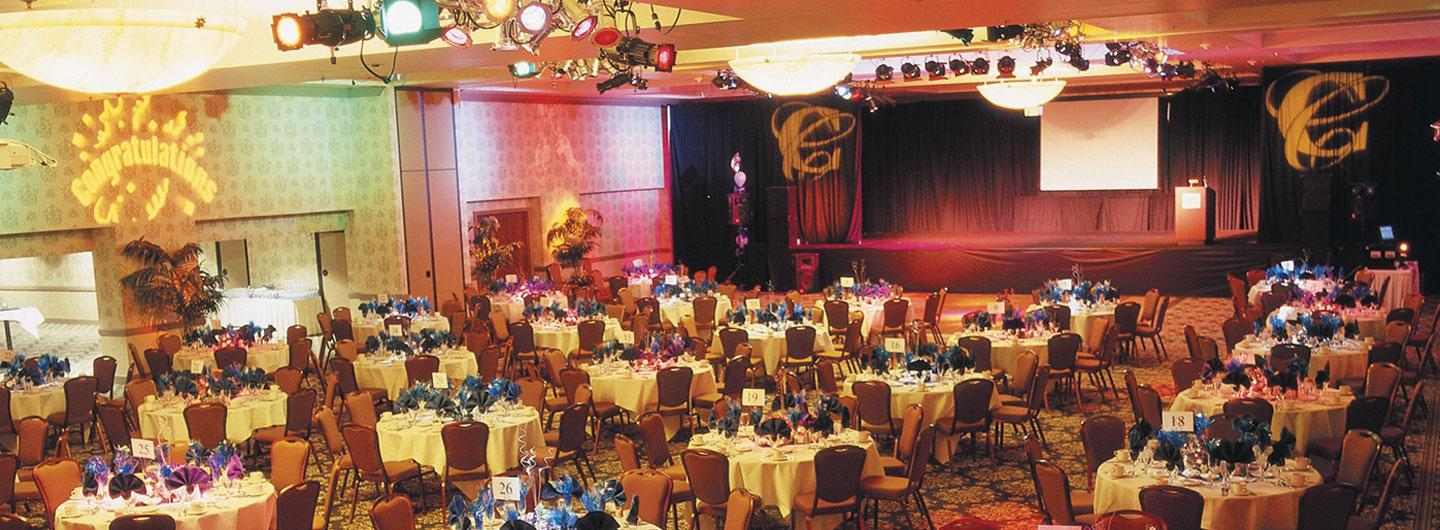 The CCR Convention Center decorated for an event