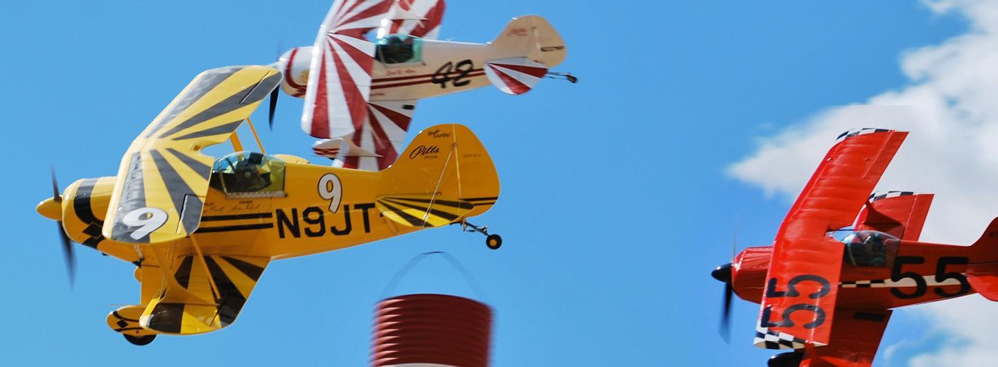 Airplanes racing for the National Championship Air Races