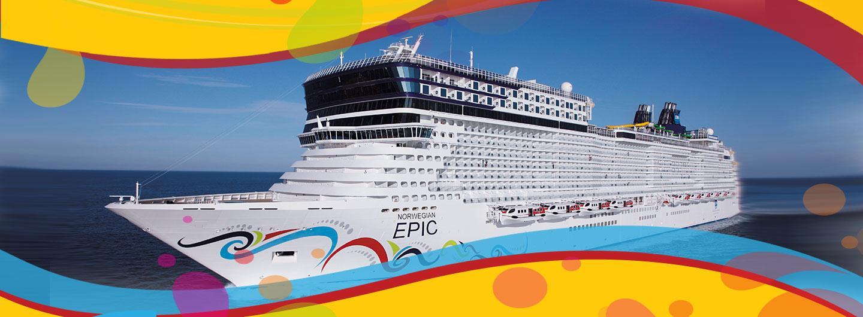 Norwegian Cruise ship on open waters