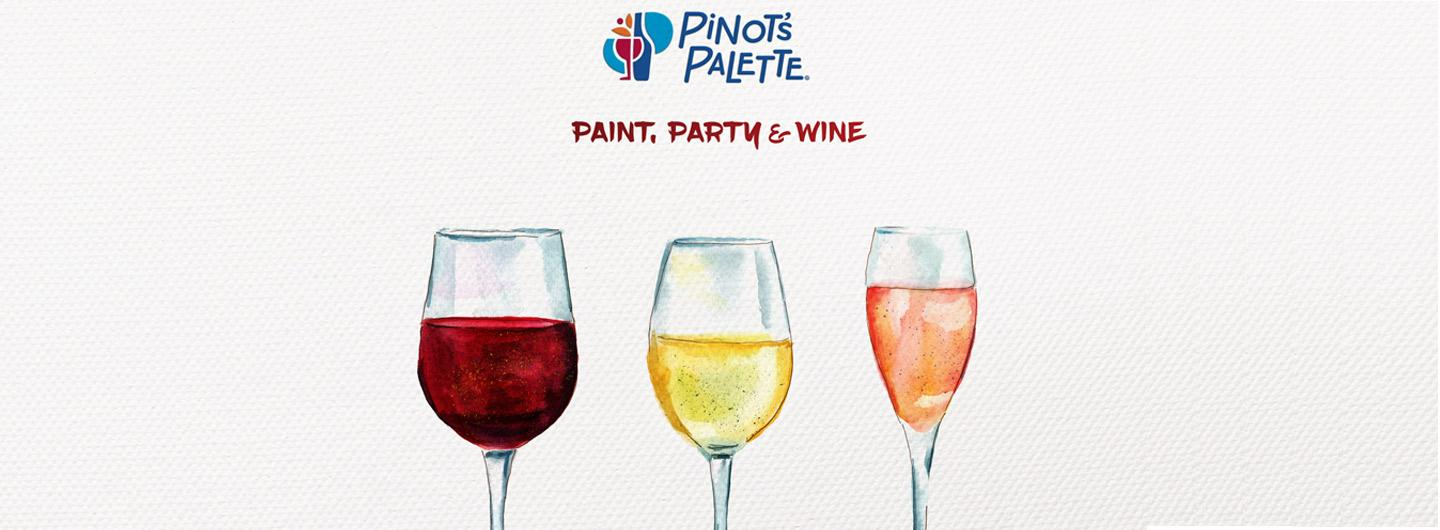 Wine Glasses at Pinot's Palette