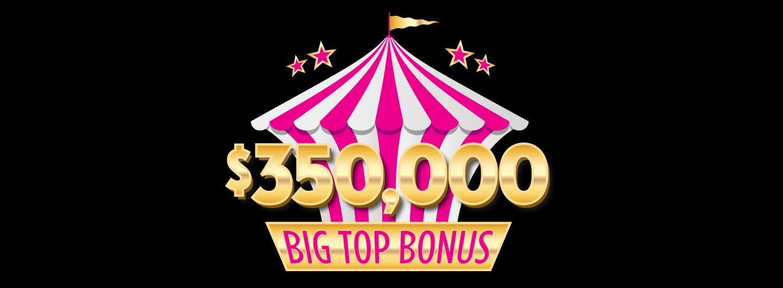 $350,000 Big Top Bonus Logo