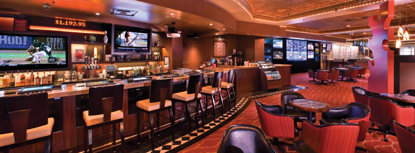 View inside of the Race and Sports Book, Bar and Lounge.